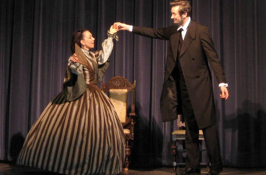 "Actors Michael Krebs and Debra Ann Miller                         present Abraham Lincoln and Mary Todd Lincoln in                         play ""Visiting the Lincolns"". 60                         minute running time special event program."