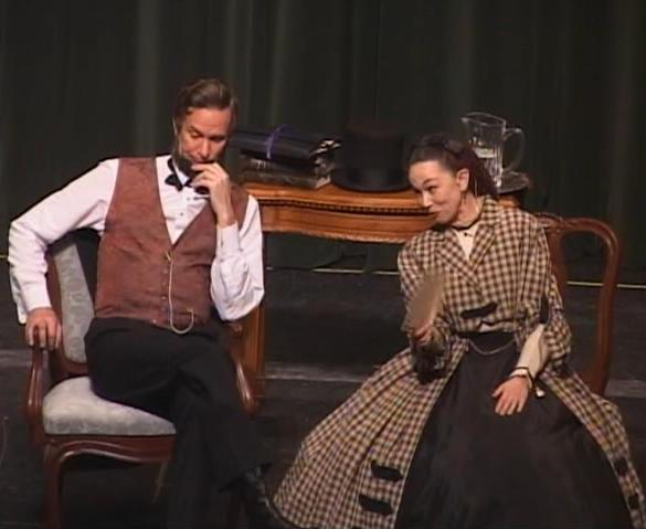 Michael                       Krebs and Debra Ann Miller as President Abraham                       Lincoln and Mary Todd Lincoln