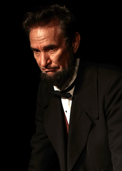 Abraham Lincoln presenter Michael                             Krebs, impersonater, actor