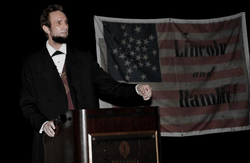 Actor Michael Krebs as Abraham Lincoln